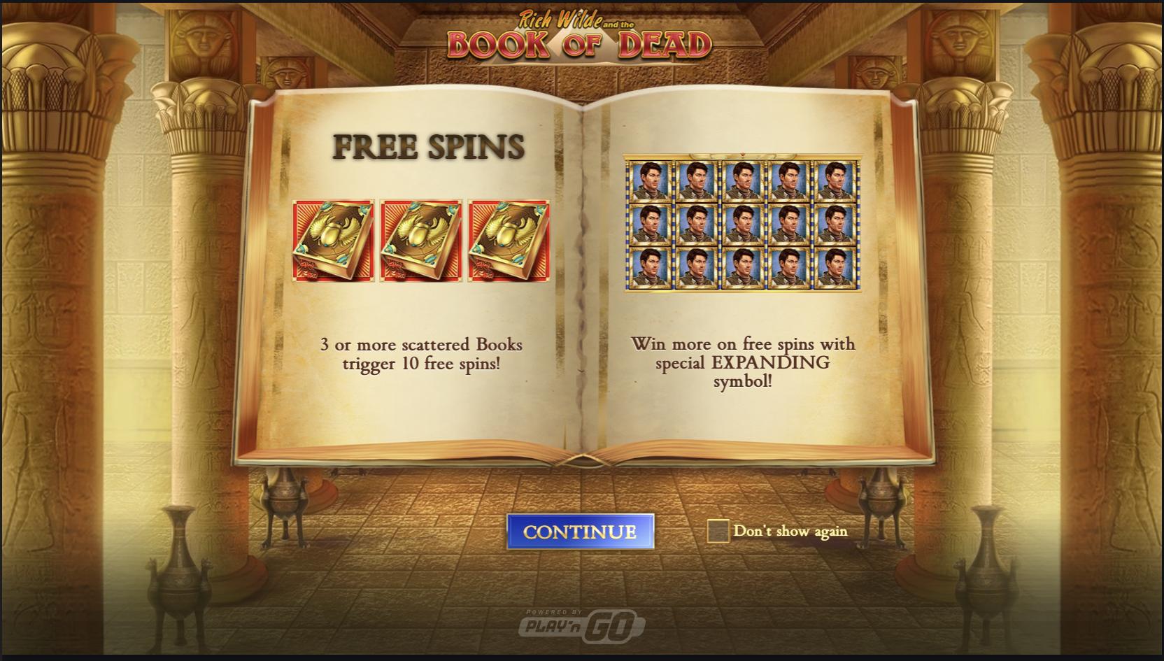 bonusspel book of dead
